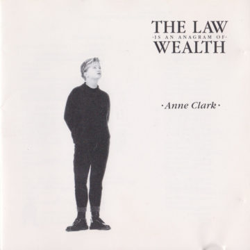 Anne Clark – The Law Is An Anagram Of Wealth stereodisc
