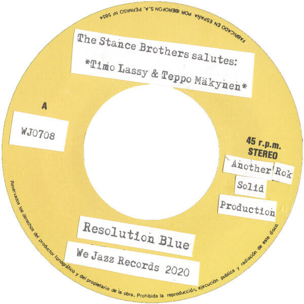 The Stance Brothers – Resolution Blue / Where Is Resolution Blue? stereodisc