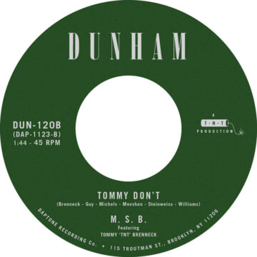 Menahan Street Band – There's a New Day Coming / Tommy Don't stereodisc