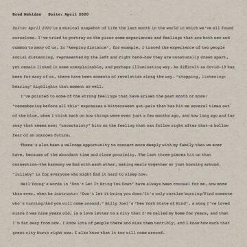 Suite: April 2020 Brad Mehldau stereodisc
